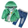 Anlencool 2017 ropa deportiva bebé babyrow tres nuevos otoño chaqueta ribete ropa de bebé determinado del bebé ropa de bebé traje de pista