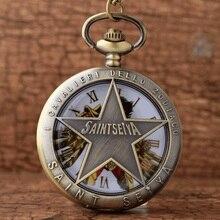 Уникальный Полый Бронзовый Saint Seiya Дизайн Кварцевые Карманные Часы Ожерелье Цепь Дети Хэллоуин Подарки Reloj De Bolsillo