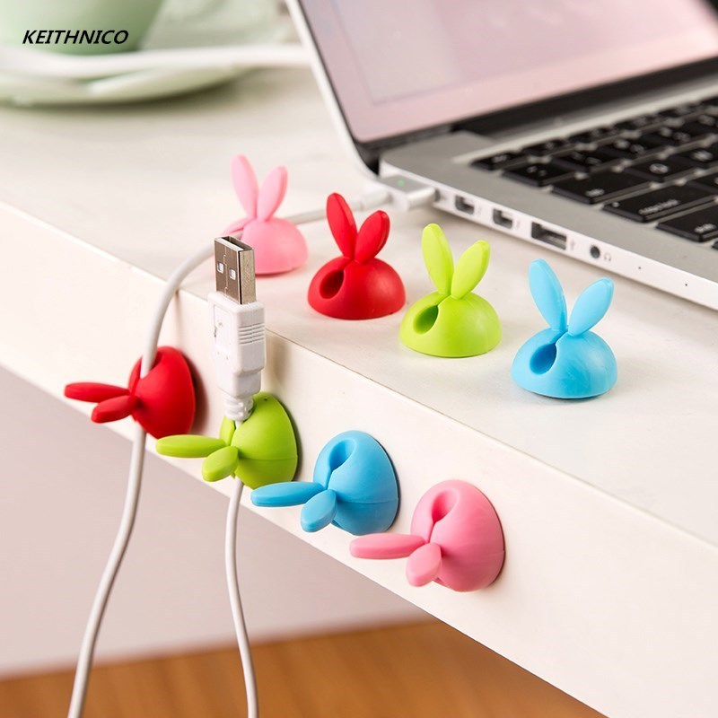 Cable Winder Aspiring Keithnico 5pcs Rabbit Ears Cable Winder Bunny Charger Wire Cord Organizer Clip Tidy Desk Earphone Bobbin Clamp Ties Fastener Easy And Simple To Handle