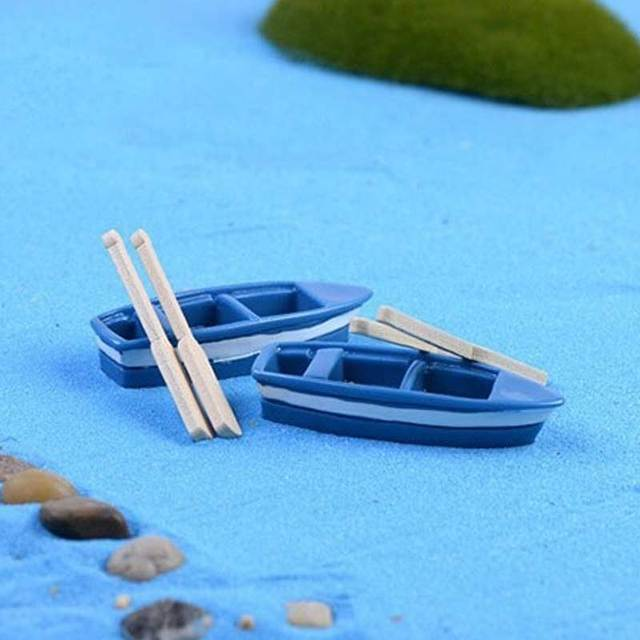 Figurines Miniatures Crafts Totoro Boat Wooden  3