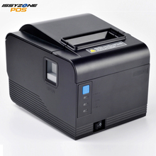 IssyzonePOS Thermal Receipt Printer 80mm Auto Cutter Order Kitchen Wall Barcode Printer Support Cash Drawer Logo Print Windows usb and serial interface 80 mm thermal receipt printer with cutter support cash drawer print for sale auto cut 80 serial printer