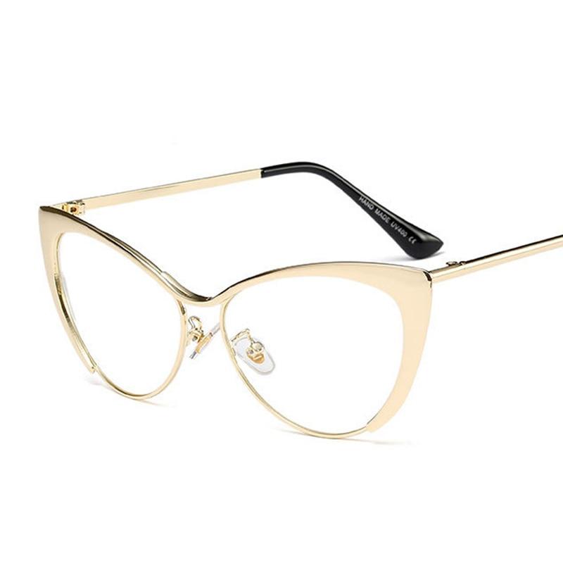 Emosnia Cateye Metal Women Sunglasses Fashion Vintage Cat Eye Brand Design Sun Glasses Retro Shades Gafas Oculos De Sol Feminina