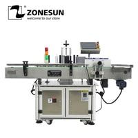 ZONEUN автоматический на круглых бутылках Этикетировочная машина для Еда промышленность завод