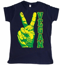 """Vegan Peace"" women's shirt"