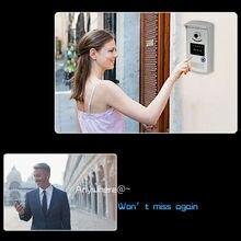Impermeable timbre inalámbrico de intercomunicación video de la puerta sistema de intercomunicación del teléfono wifi cámara mirilla visor timbre inalámbrico