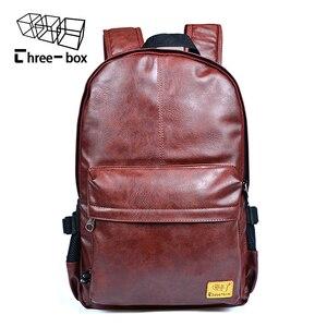 Image 2 - Mochilas de moda de tres cajas para hombre y mujer, mochila Retro de gran tamaño para hombre y mujer, mochila de viaje de ocio para estudiante de la escuela