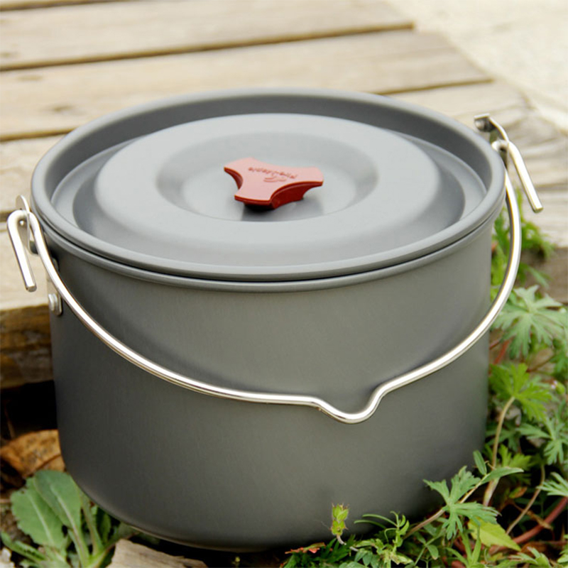 High Capacity Camping Pot 8L For 6-8 Persons Outdoor Picnic Cooking Cookware Hanging Pot Kettle  Fire Maple FMC-215 810g new fire maple fmc td2 pot sets outdoor portable camping tablewares camp cooking cookware picnic titanium cutlery 1 2 persons