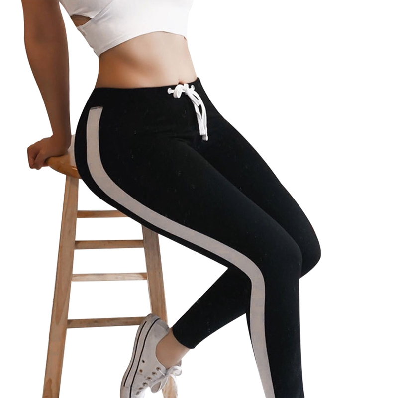 Women High Waist  Quick Fitness  Pants 2019 Color Dry Running Trousers Elastic Comfortable