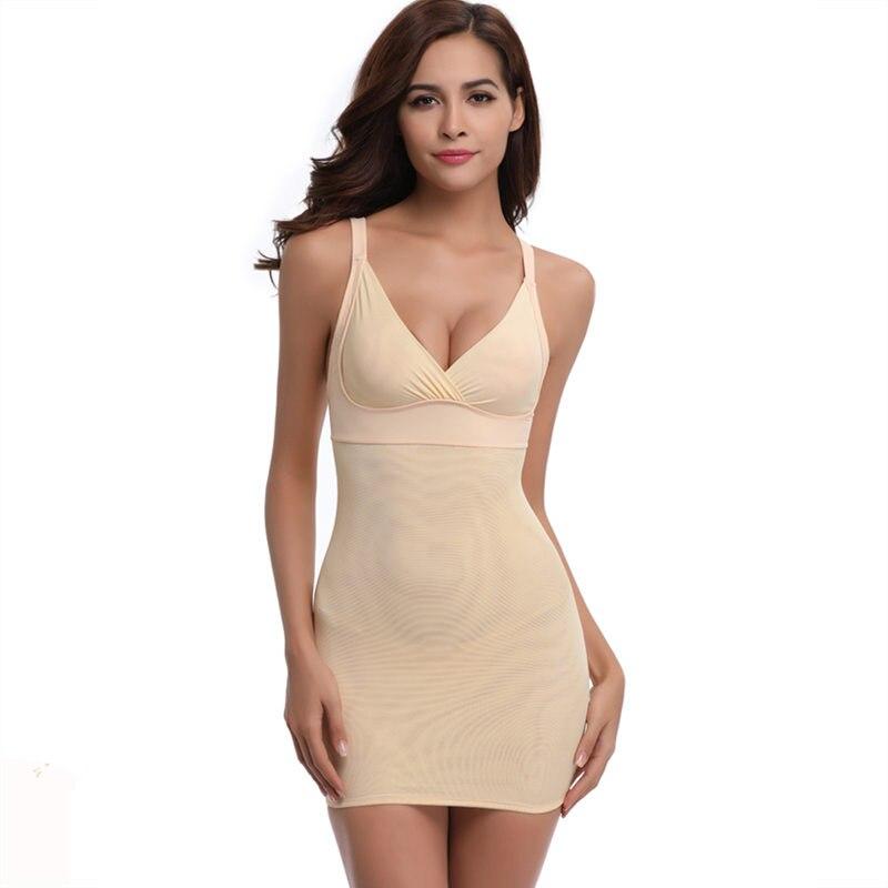 Sexy Women Control Slips Shapewear Plus Size Push Up Waist Shape Full Body Strap Underwear Tummy Control V Neck Bandage Lingerie