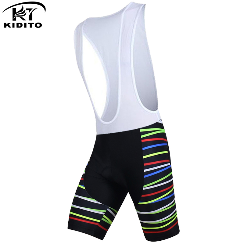 KIDITOKT Summer Shockproof Cycling Tights Breathable Bike Bib Shorts Mountain Bicycle Bib Shorts Quick Dry Cycling Shorts Pant