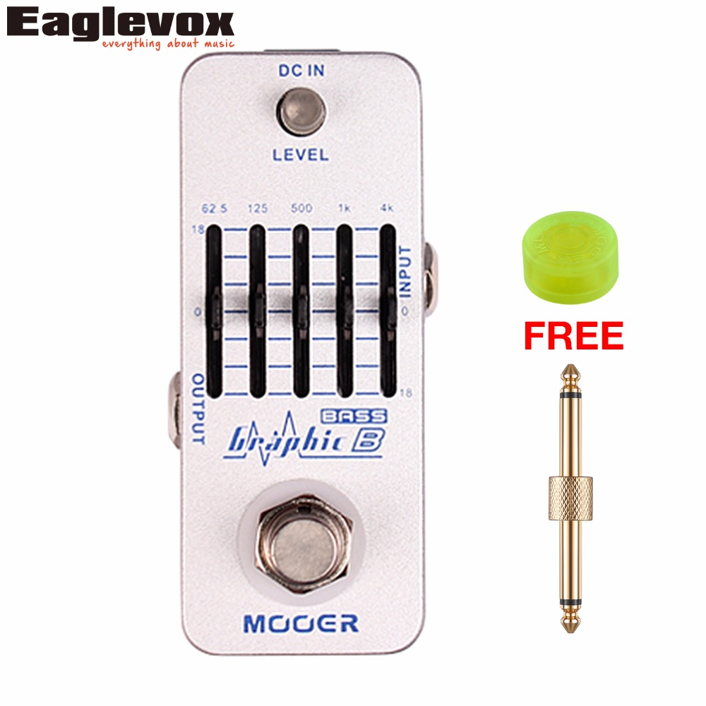 Mooer Graphic B 5-Band Equalizer Effects Electric Guitar Effect Pedal True Bypass MEQ2 with Free Connector and Footswitch Topper стоимость