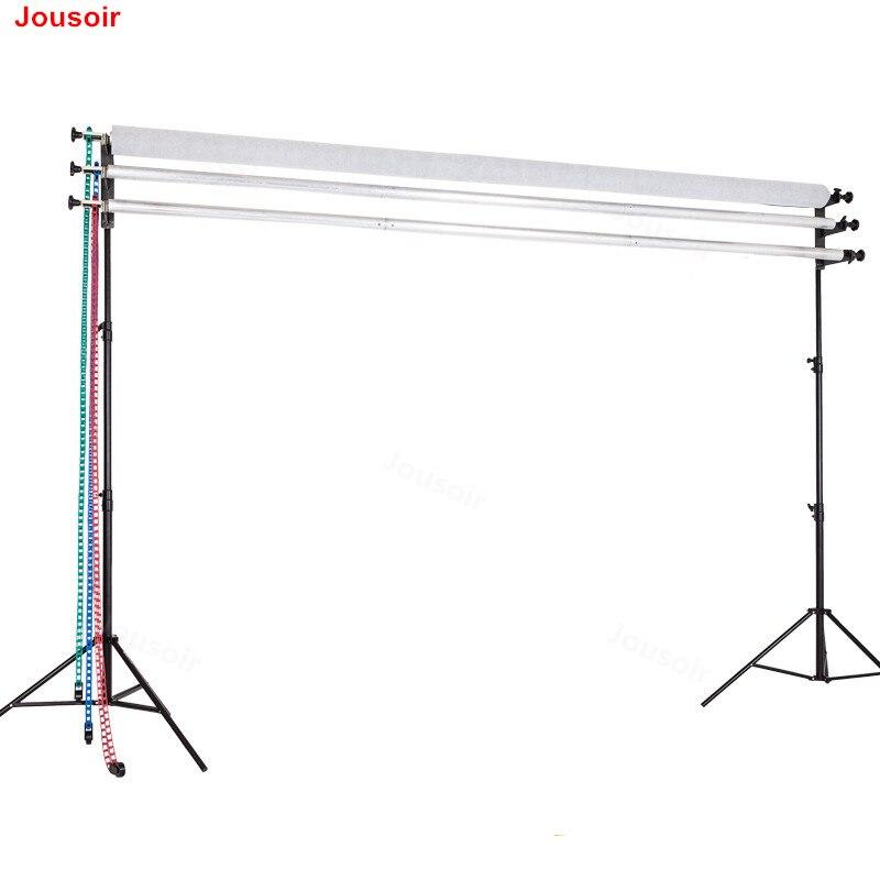 Фотостудия 3 ролика Портативный фон потолочный светильник настенный стенд монтажный руководство фон Поддержка Системы CD05 T01