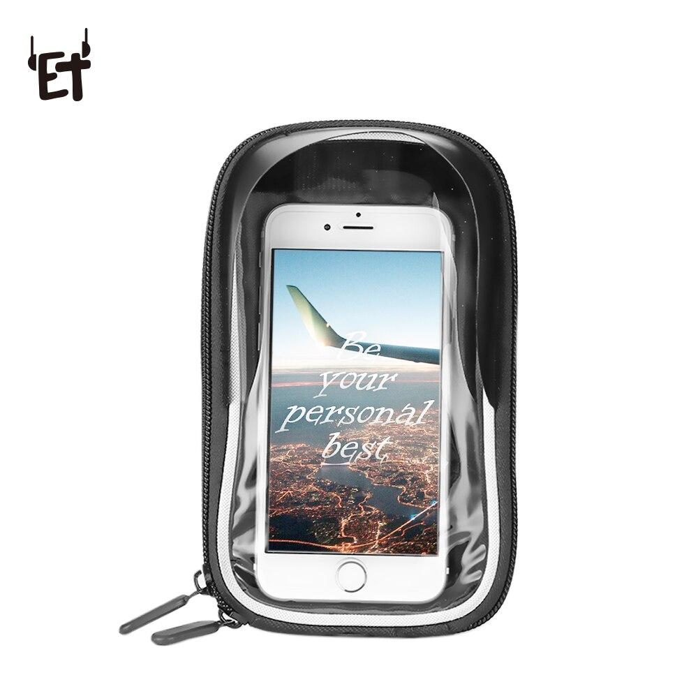 ET Waterproof Bike Phone Bag Smartphone & GPS Touch Screen Case Outdoor Phone Bag Portable Bike Pannier for 5.5 Inch Phone