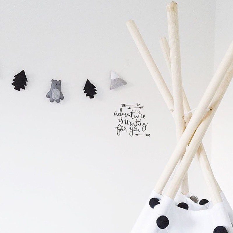 New Nordic Felt Fabric String Cloud Garland Party Banner Kids Room Hanging Wall Decor Tent Bed Mat Baby Shower Bunting Ornament