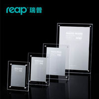 5 Pack Reap Mills Acrylic L Shape Desk Sign Holder Card Display Stand Table Menu Photo