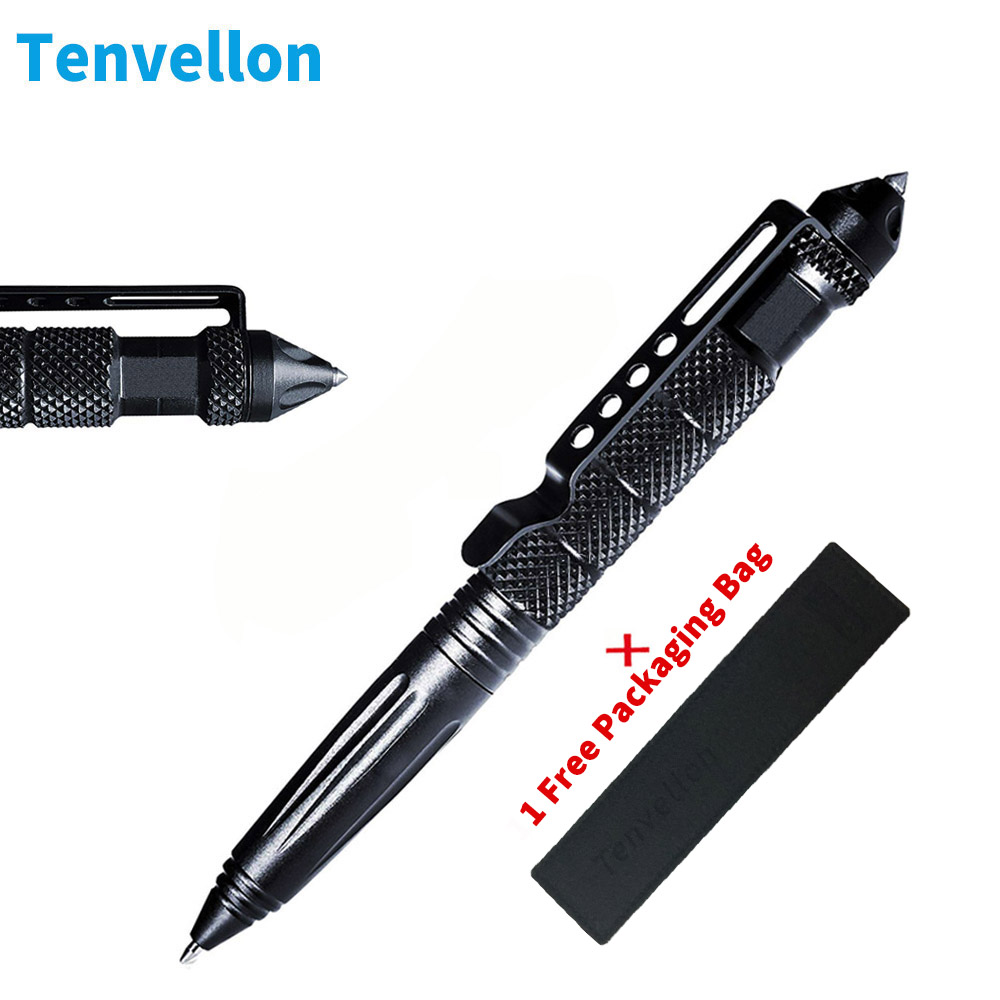 Tactical Pen Self Defense Supplies Tool Military Aviation Aluminum Anti skid Portable defence personal Survival Tools Camping