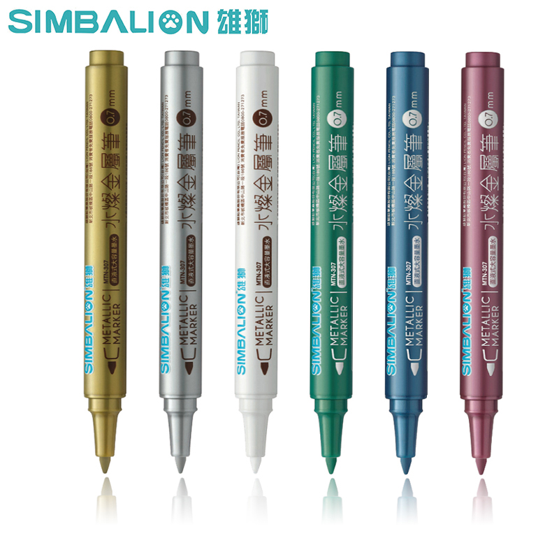 Simbalion 6Colors Artist Ceramics Art Markers Pen Writing Marking Plastic/Glass/CDs Non Toxic Design Mark Pen For DIY Drawing
