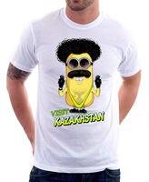 Borat Mankini Казахстан Гадкий я забавная белая футболка FN9800 дешевые оптовая продажа футболки для девочек летние мужские модные мужские футболк
