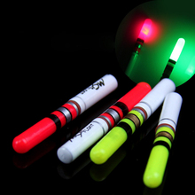 20pcs/lot Green/Red LED Light Stick Fishing Floater Float Set With CR322 Battery + Tube Tackle Accessory B121