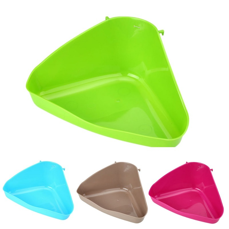 1Pc 36*21*15cm Plastic Corner Litter Tray Cat Mouse Rat Rabbit Hamster Pets Toilet Bowl Pets Supplies Trash Can Color Random