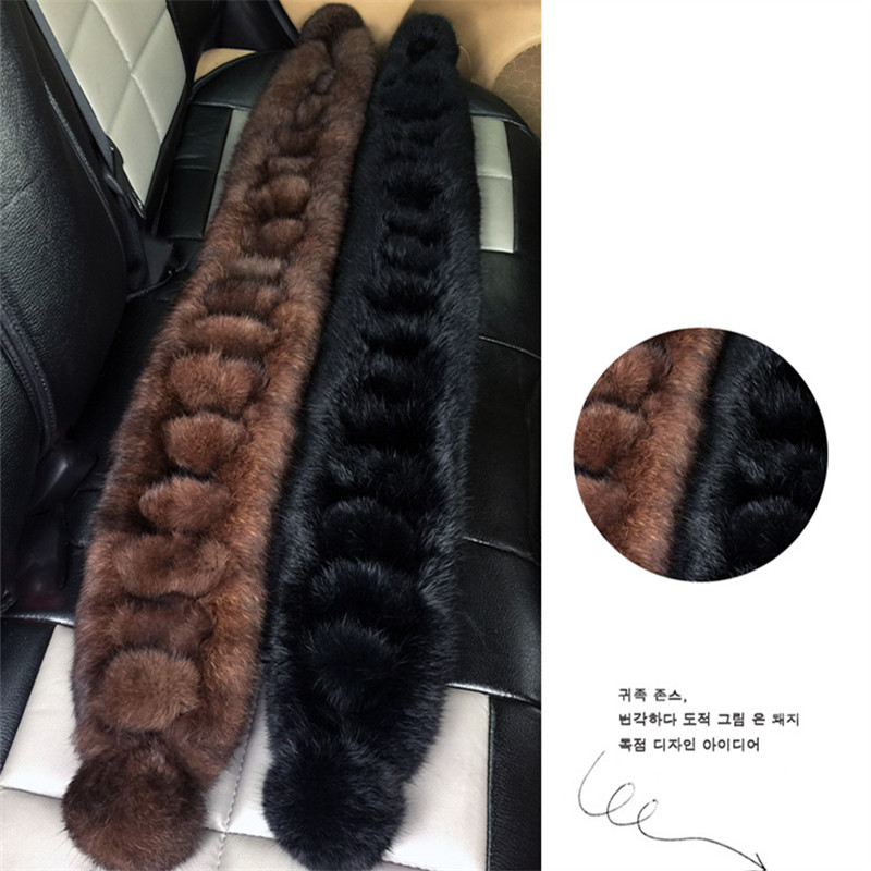 New 2018 Women/Men Warm Genuine Real Rabbit Fur Scarf Ladies Lovely Winter Wraps