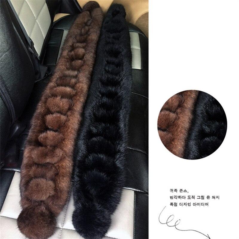 New 2018 Women/Men Warm Genuine Real Rabbit Fur Scarf Ladies Lovely Winter Wraps
