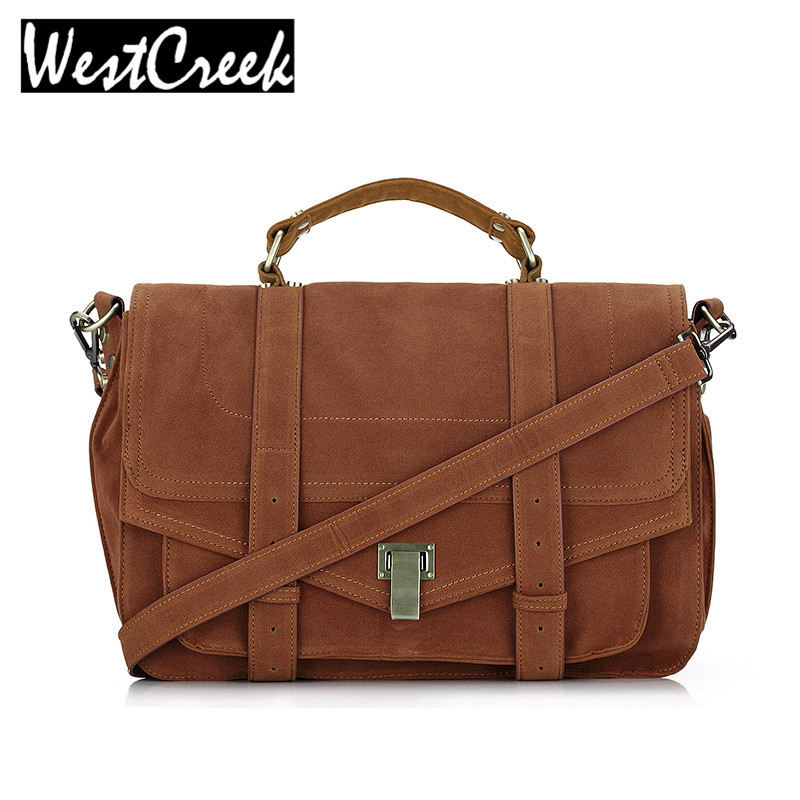 ФОТО Satchel messenger bag vintage suede designer handbags high quality briefcase postman bag lady big retro crossbody bags for women