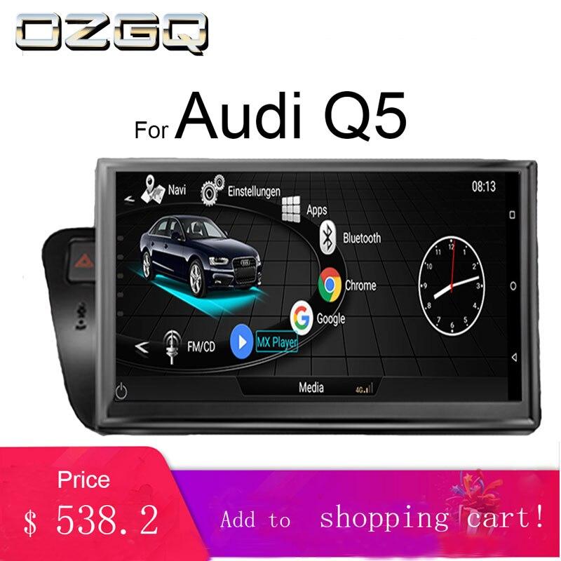 OZGQ 3G MMI Android 10.1 ''ecran Quad Core autoradio Navigation Gps pour 2010-2016 Audi Q5 avec Bluetooth cartes en ligne et hors ligne