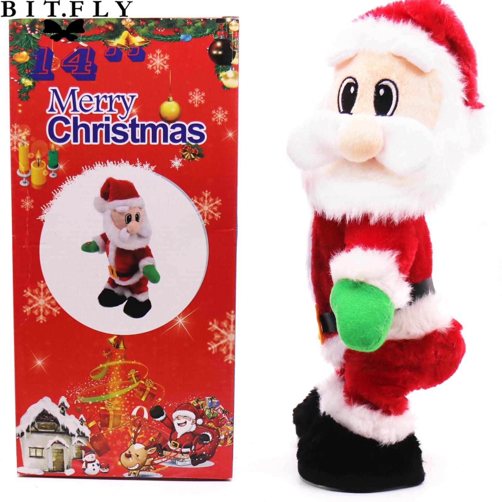 New Christmas Electric Twerk Santa Claus Toy Music Dancing Doll Kids Xmas Gift