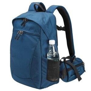 Image 2 - Водонепроницаемый рюкзак для камеры многофункциональный Многофункциональный цифровой SLR Мягкий сумка для фотокамеры с дождевой крышкой для Nikon Canon sony