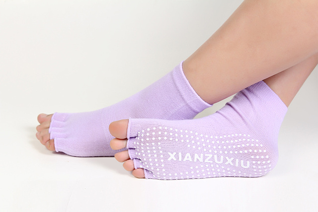 Half-Toe Non-Slips Socks for Yoga and Exercise