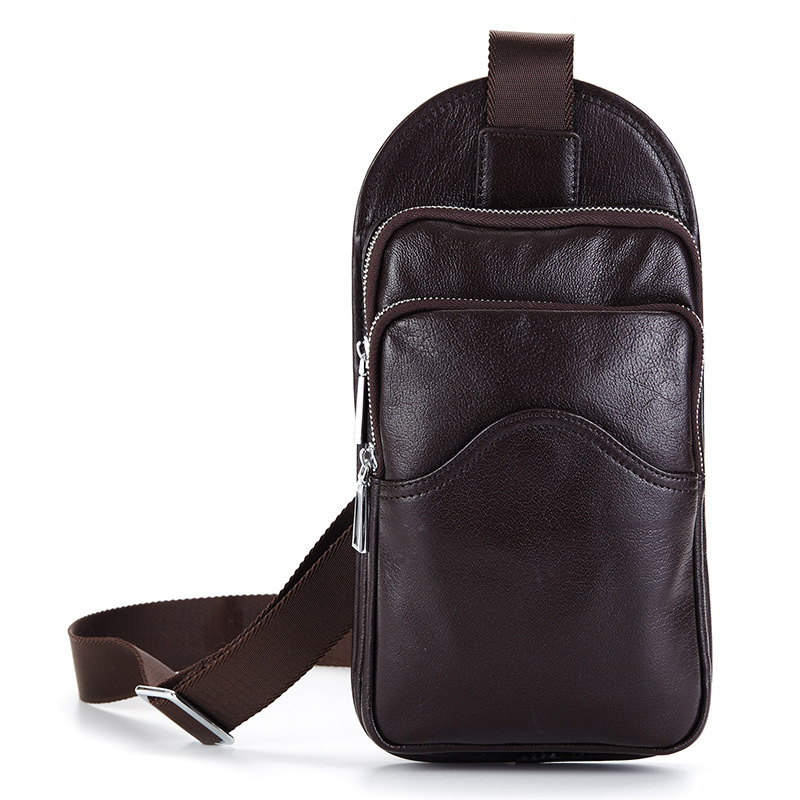 Men bags European and American Style male shoulder bag Men chest bag Simple fashion male genuine leather messenger crossbody bag