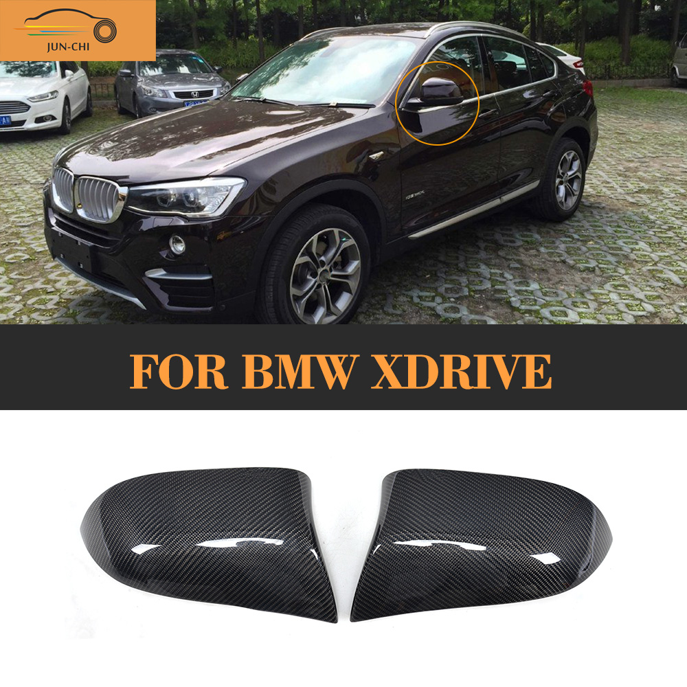 Carbon fiber Replacement side mirror covers Caps for BMW xDrive X3 F25 X4 F26 X5 F15 14-16 X6 F16 15-16 Standard Not M airspeed carbon fiber auto car gearshift knob cover sticker for bmw f20 f30 f31 f34 3gt x3 f25 x4 f26 x5 f15 x6 f16 accessories