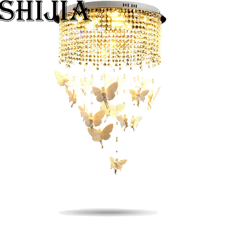 Free Fast Shipping in stock New Angel Creative crystal Chandeliers Modern crystal ceiling lamp Dia 400mm + Light remote control new in stock ve j62 iy vi j62 iy
