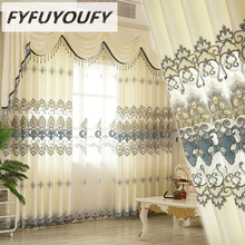 Europe Pashmina Embroidered Curtains For living Room/ Bedroom Blackout Curtains Window Treatment /drapes Home beige polyester flannel europe embroidered blackout curtains for living room bedroom window tulle curtains home hotel villa