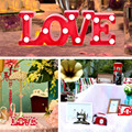 New Romantic Candeeiros de PAREDE Decorativo Interior 3D AMOR Carta Marquise LEVOU Noite Luz Casa Decoração de Natal coração DIODO EMISSOR de luz