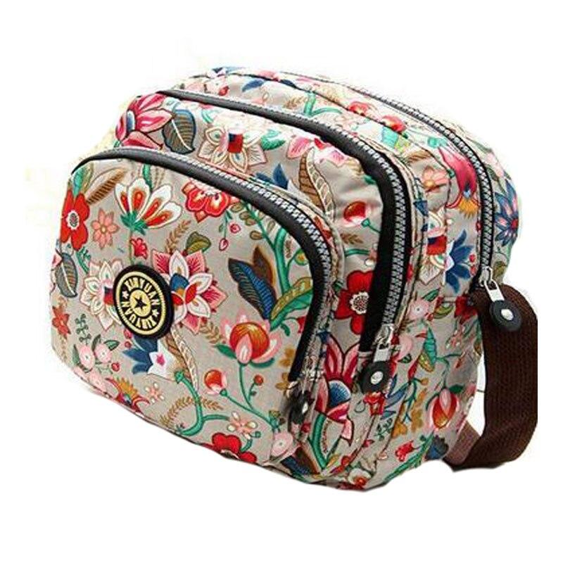 Bolso de hombro de moda coreana para mujer, bolso de nailon resistente al agua, bolso bandolera de alta calidad para mujer, bolso bandolera multicapa