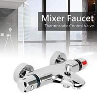 Ceramic Thermostatic Valve Mixer Faucet Tap Bathroom Thermostatic Mixer Bath Shower Faucets Water Control Valve Wall Mounted