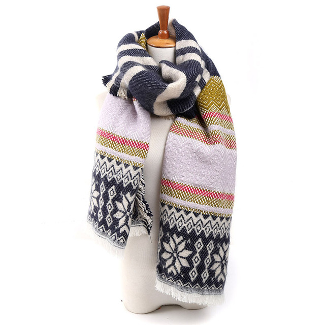 Tribal Cashmere Thick Scarves | Blanket Scarves