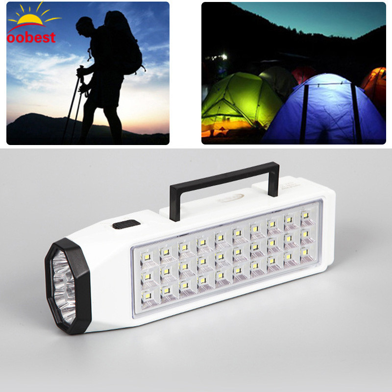 Oobest Emergency Light LED Flashlight Mini 38 LED Rechargeable Lamp Home Outdoor Camping New Portable for
