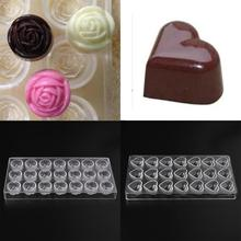Hard Different Shapes PC Polycarbonate Candy Chocolate Molds Baking Mould Tool