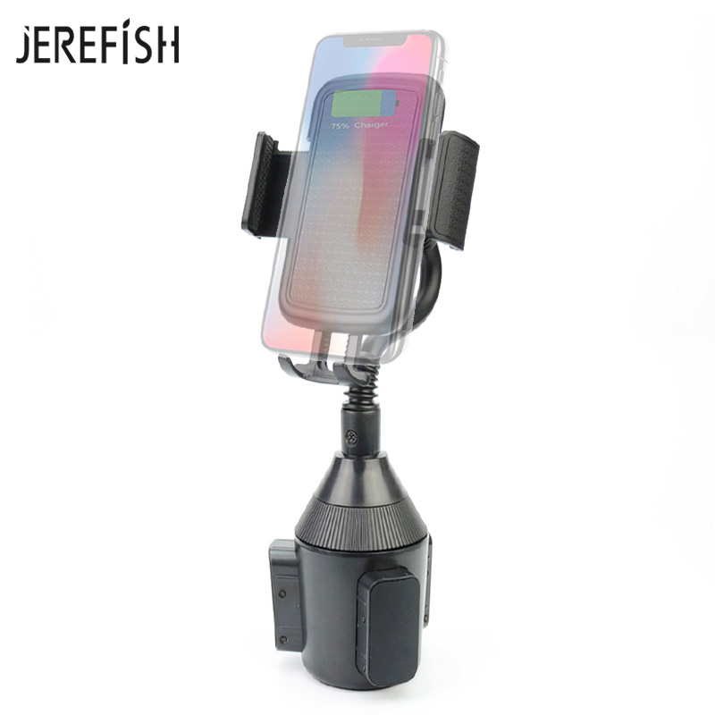JEREFISH Universal Car Phone Holder Car Cup Mount for iPhone Android Huawei Xiaomi 360 Degree Rotation Car Holder Clip|Phone Holders & Stands| |  - title=