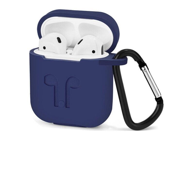 Image 5 - 50 шт. мягкий силиконовый защитный кожух для Apple Airpods зарядный чехол портативные тонкие чехлы с брелком air Pods сумочка-in Сумки и чехлы для плееров MP3/MP4 from Бытовая электроника