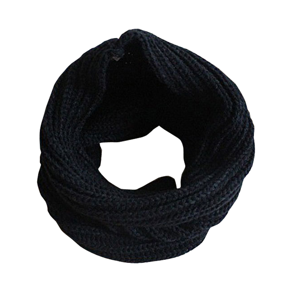 Ladies Girls All-match Winter Warm Knitting Wool Collar Neck Warmer   Scarf   Shawl   Wraps   AIC88