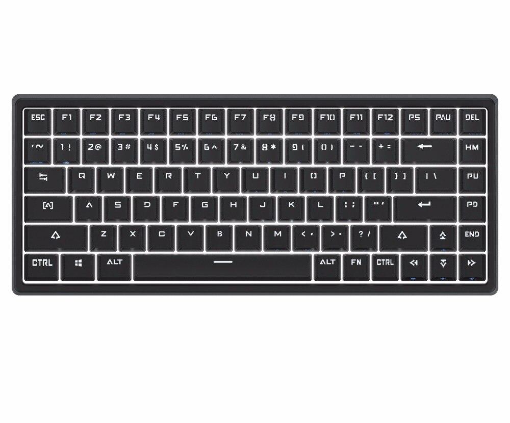 ФОТО Drevo Gramr 84 Key Backlit Edition Tenkeyless Mechanical Gaming Keyboard Brown  Switch White