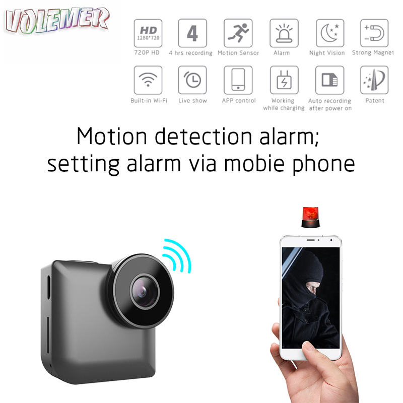 Volemer C3 mini wifi camera Full HD 1080P Wireless P2P Remote Control Home Security Video Cam Motion Detection flexible camera diy camera mini wifi camera full hd 1080p camcorder p2p motion detection video security with 2 4g rf remote control diy camera