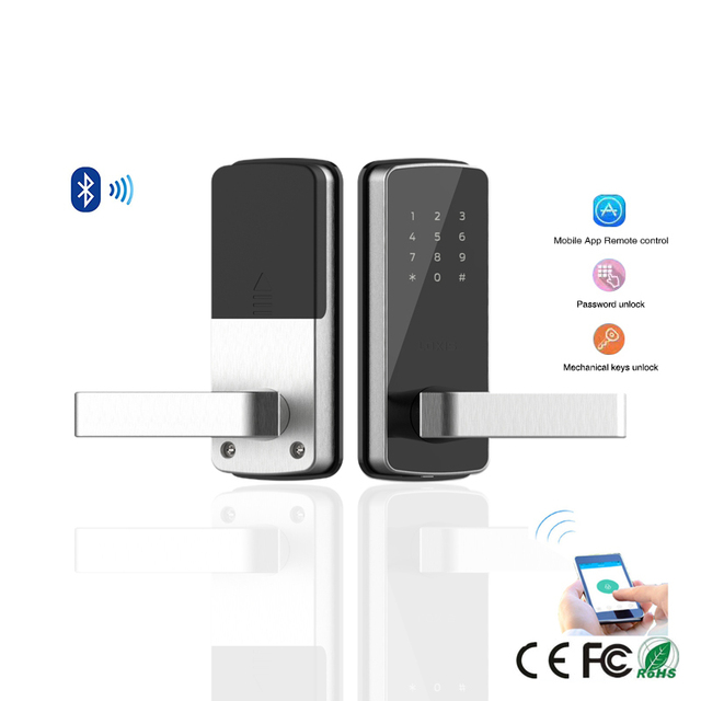 WiFi Digital Electronic Smart Door Lock App, Smart Home Mobilephone App Intelligent Bluetooth keypad Password Door Lock