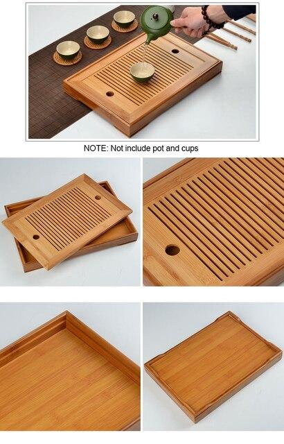 Kung Fu Tea Set Bamboo Tea Tray