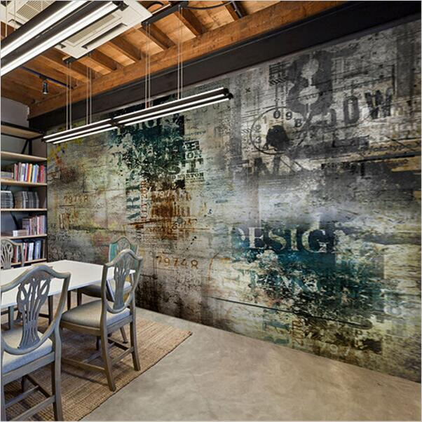 Custom Retro Nostalgia Graffiti Murals Wallpaper Living