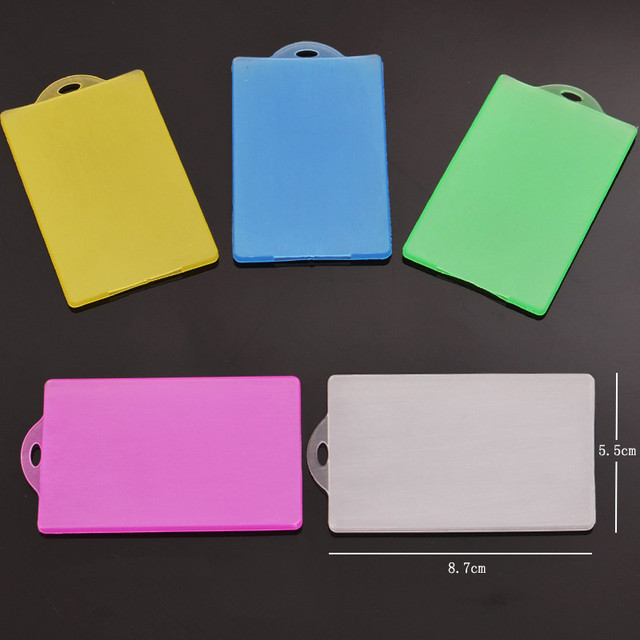 Plastic Card Case Cover Holder Credit Card Holders Bus ID Holders Identity Badge with Transparent Card for girl as gift